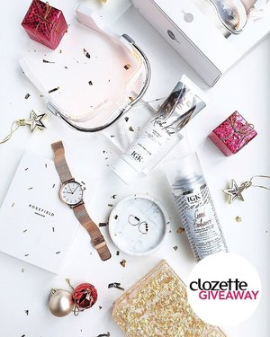 #ClozetteGiveaways: Are you ready to glow this new year? To kick off our #ClozetteNewYearNewYou giveaway, we're giving away these Glit & Glow essentials worth ~SGD790/PHP29,300/MYR2,400 to 1 (one) lucky winner. It includes: IGK Good Behaviour Smoothing Spray & Rich Kid Coconut Oil Gel, Lee Hwa Jewellery Earrings, Skin Inc Optimizer Voyage Tri-Light Glasses for Bright Eyes and Rosefield Rose Gold Watch. All you have to do is:  1. Follow @clozetteco on Instagram, 2. LIKE this photo, 3. COMMENT and share your glit & glow goal for 2020, 4. TAG 3 friends to follow us (the more friends you tag, the more chances of winning) and spread the love!  Giveaway runs from now till31 December 2019(11:59PM), and is open to residents of Singapore, Malaysia, and the Philippines. #Clozette
