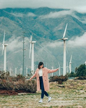 Chanced upon these windmills along the way and of course we had to make a pit-stop. Coat from @loveandbravery ✨ #loveandbravery #clozette #cassiforniawithritzy