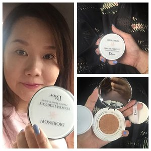 Wow I actually love the Diorsnow perfect bloom cushion! Light to medium coverage with slight satiny finish and hope the brightening properties are effective for me 💖💖💖👯 #luxurymakeup #beauty #selfie #beautyblogger #beautyreviews #diormakeup #diorcushion #diorbloomperfect #diorsnow #cccream #cccushion #cushionfoundation #motd #cosmetics #makeupobsessed #makeupoftheday #makeuplover #makeup #beautyobsessed #clozette