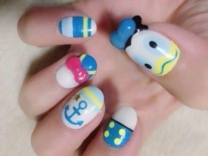 Magical disney nail art