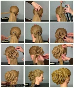 Bridal rose bun