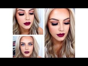 ♡Burgundy, Red, Dark Lip With Smokey Eye Makeup Tutorial♡ - YouTube