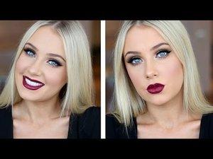 Doll Eyes with Dark Plum Lips Tutorial! - YouTube