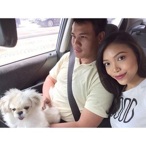 My loves ❤️ I'll see you in a few days ! 😘😘 @fifithepekingese @yapjiejong  #motd #beauty #makeup #clozette #dogsofinstagram #pekingese #pekingeseofinstagram #selfie #couple