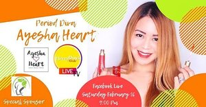TONIGHT!!! Tune in to @happydaysbox FB page at 9PM. I'll be sharing some self-care guide & what to eat (dietary guidelines) for a happier period! . Grab a cup of coffee (tea or wine!), sit back, relax, and get ready to learn. Get your questions answered, win amazing prizes 🙌 . Can't wait to see you in there! . . #AyeshaHeart #beautyblogger #Clozette #Bossbabe #happydaysclubtvepisode3 #perioddivaAyeshaHeart #leianahouseofbeauty #SurpriseMeAyeshaHeart #bbloggersph