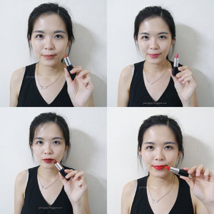 Tried and tested the new @marykaymysg Gel Semi-Matte Lipstick in Rich Truffle, Mauve Moment, Midnight Red and Poppy Please. ❤️ Which are your favourite shades? Do you think which suits me the most? Review is now up on my blog @ janiceyeap.blogspot.com. 😊 #marykaymalaysia #marykay #MKDreamBeautiful #clozette #beautyreview