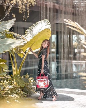 Just me and my imagination: like a pixie 🧚🏻♀️ in an enchanted garden, where I seek shelter under a huge leaf 🍃🦋🌿🍄✨. 📸: @lkzx / @lklenswork