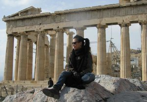 Military outfit with the Parthenon as my backdrop