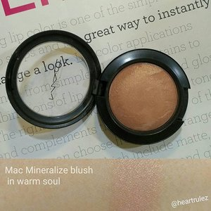 #fave  blush #macmineralizeblush  #clozette #maccosmetics  #warmsoul
