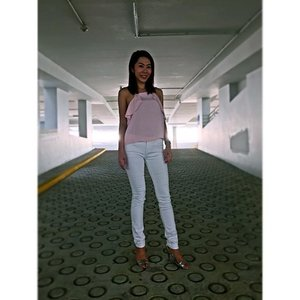 The colours I don't usually wear: Pastel Pink X White#OOTD #clozette