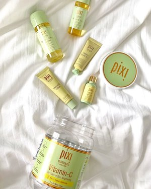 [NEW] @PixiBeauty latest range features all things Vitamin C!... ❗️Each skintreat contains powerful ingredients such as Vit C for brightening, Ferulic Acid for its antioxidant protection & Probiotics that strengthens & balances.. This collection not only protects the skin from free radicals, it also brings out the luminosity & brightness of the skin.. ✔️Brighten & Cleanse... ✔️Tone & Energize... ✔️Treat & Protect... ✔️Moisturize & Energize... ✔️Boost & Nourish