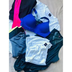 ~~supercharging our 2019 lunar new year with sports active wear instead for a change. So loving these pieces we scored from @_energized store at IOI mall with their buy 3 free 3 promotion! What a steal. We walked away with 3 tops, 2 neon colour accented workout pants and one super awesome cobalt blue sports bra that we are crushing as it's not only chic looking but really comfy too 💕😘💗 now we are really for #chinesenewyear2019! YAY!!~~