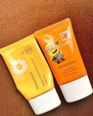 Happy Tuesday!  Last weekend, I've emptied my sunscreen in Indonesia but what I didn't not share was it's replacement. I got this @innisfreeofficial Eco Safety Daily Sunblock with @despicableme packaging while visiting China last year, and I'm super excited to finally see it on my vanity! Isn't it adorable?  #innisfree #kbeauty #kbeautyskincare #empties #beautyblog #이니스프리 #k뷰티 #뷰티그램 #sunscreen #moisturiser #skincare #emptiesmakemehappy  #discoverunder10k #discoverunder1k #igsg #clozette #뷰티블로거 #뷰티그램 #kbeautyaddict #k뷰티 #한국화장품  #뷰티방송  #메이크업 #abbeatthealgorithm #abcommunity