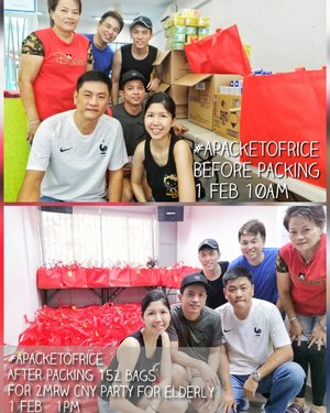 Spreading my joy to the elderly, packing for their goody bags for the cny party tomorrow!  Can't wait to see their excited faces. A morning totally well spent packing with these amazing volunteers for #apacketofrice at Jalan Bukit Merah.  152 goody bags completed in under 4 hours.  Spreading love. Spreading joy. My kind of CNY. 😊  #AsiaOneMostPromisingPersonality2019 #MrsChinatownInternationalAllNation2018 #MrsBeautifulSkin2018 #MrsChinatownSingapore2018 #celestiafaithchong  #beautydeconcierge #beautyconcierge #aesthetic #cosmeticsurgery #plasticsurgery #imageconsultant  #marketer  #msbabelovebebes #influencer #imagecoach #clozette #starclozetter #baseentertainmentambassador