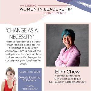 Have you got your tickets yet and join Elim in the conference? 😊  Celestia's Exclusive Promotion: $150 (U.P. $200!) https://www.eventbrite.sg/e/women-in-leadership-conference-by-lierac-tickets-58979576501  For more information, please visit http://www.lieracwomeninleadership.com.  #lieracsg #empoweryourbeauty #womanpower #AsiaOneMostPromisingPersonality2018 #MrsChinatownInternationalAllNation2018 #MrsBeautifulSkin2018 #MrsChinatownSingapore2018 #celestiafaithchong  #beautydeconcierge #beautyconcierge #aesthetic #cosmeticsurgery #plasticsurgery #imageconsultant #marketer  #msbabelovebebes #influencer #imagecoach #clozette #starclozetter #baseentertainmentambassador