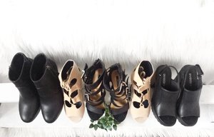 June-July Shoe Haul 👠 #clozette #shoes Left Most & Right Most: @hm Nude Laceup: @tutumshop Middle: @forever21