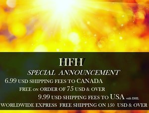 HFH will give you the best shipping rate ever! Note that we are using DHL express worldwide shipping solution and Canada post for national orders.