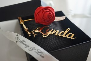 Hand made Rose ring & customized keychain