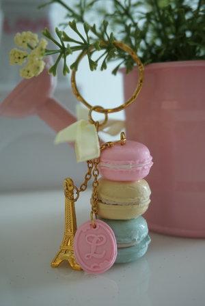 Sweet & lovely custom made keychain with macaroon charms