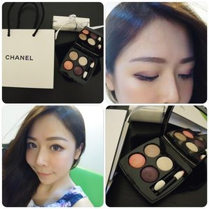 Tried on the new Chanel eyeshadow, what do you think? 😃 I like it so much! It somehow carry out mysterious yet sweet look! Find out more on http://bit.ly/chanell4o-chenelle  #Chanelles4ombres #Clozette #selfie