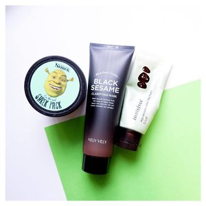When facing sensitive or breaking out skin, I am super skeptical with every product I use. This includes wash off mask too. So here are my 3 top picks to clean pores but not worsen my acnes. Your mileage may vary. -- Shrek Pack - Super cooling, helps skin texture, controls sebum production and unclog pores. -- VelyVely Black Sesame Clarifying Mask - Gentle peel off mask, helps skin texture, small whiteheads being pulled out keeps pores clean. -- Innisfree Color Clay Mask - It's a super gentle mask pack which may seem to do nothing to normal skin type. But it's a godsent when skin is red and sensitive. -- Have you tried any of them?