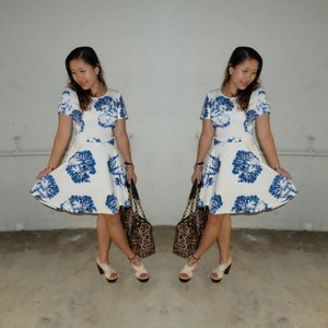 Ootd on my mon-date. Aurora dress from vaingloriousyou. Love this dress alot. :*