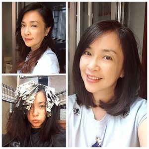 chop chop... new hair to get ready to usher in the New Year! // 4 hours for cut and invisible color & highlight 😴 😁 // #chopchop #longtoshort #longhair to #shorthair #shoulderlengthhair #hair #haircut #hotd #newyear #clozette