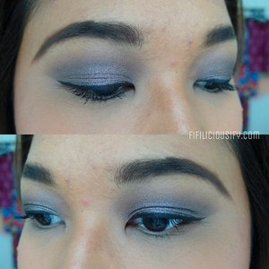 Grey + Purple Cast 💜 Lorac Pro Palette, Chanel Illusion D'Ombre in Illusoire 💜 ___  #clozette #makeup #fotd #chanel #illusiondombre #illusoire