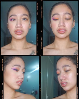 The power of makeup. One side done, one undone. ❤️ Doing my makeup at home for no reason helps me with my anxiety and calms me down. It helps me channel my negative energy into creativity. ❤️ What does that for you? 😊