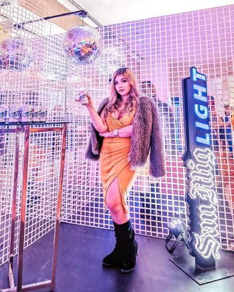 For lit nights, have it light with @sanmiglightph  Dress: Kylie Wrap by @heatherclothingph Fur Coat: @hm Satchel: @michaelkors Boots: @aldo_shoes Photo by: @milesfajardo  Panasonic Manila Fashion Festival  Thank you @herstyleasia @artpersonas, @manilafashionfestival and @bloggerxph for this opportunity!  #WeAreBetaPH #kumuph #livestreamer #GandangLavish  #clozette #clozetteph  #bodypositivity  #effyourbeautystandards #bloggerxph #HerStyleAsia #HSASquad #HSACorrespondent #BeMore #WantMore #AspireMore #PMFF5 #PanasonicMFF #PMFFAnniversary #TickledMedia