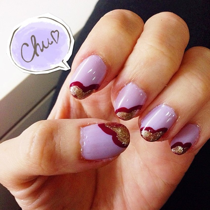 Day 4 of #15daysofmakeup is #nails! In continuation with today's purple theme! 💜❤️ #DIY #nailart #purplepower #clozette