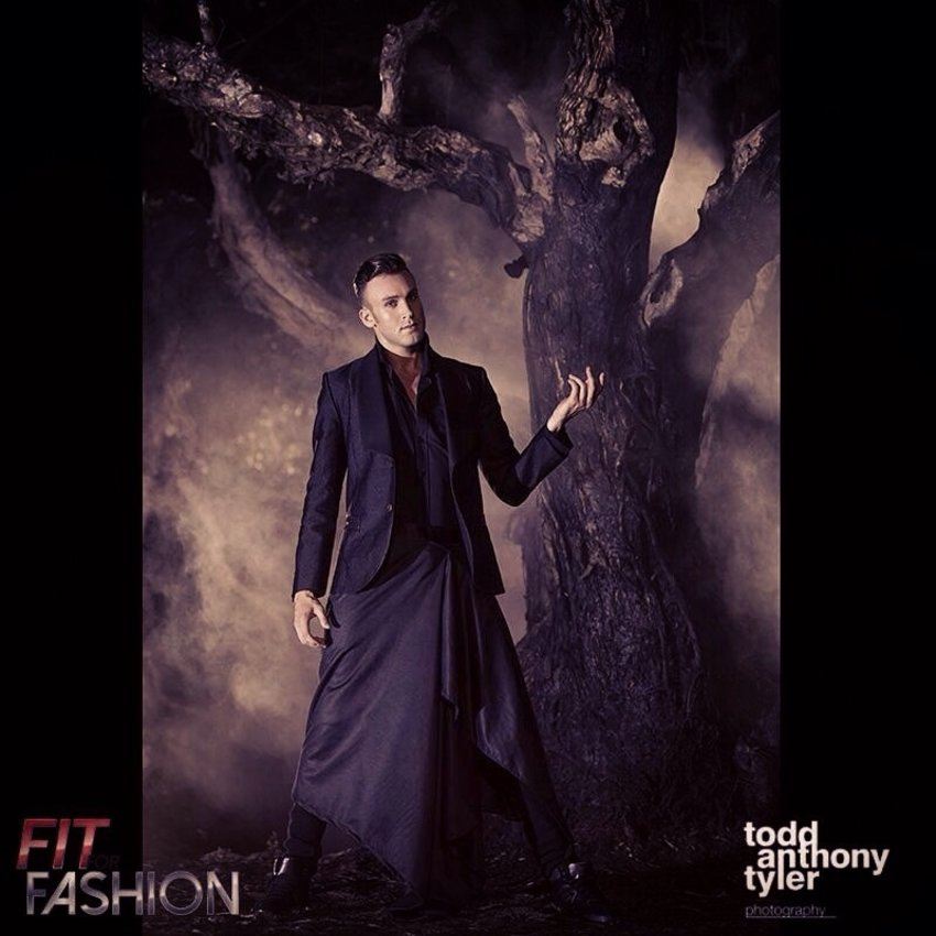 Fit For Fashion TV Fashion Challenge Ep6: Gothic/Glam Editorial Shoot. Clothes by Jenny Schwarz