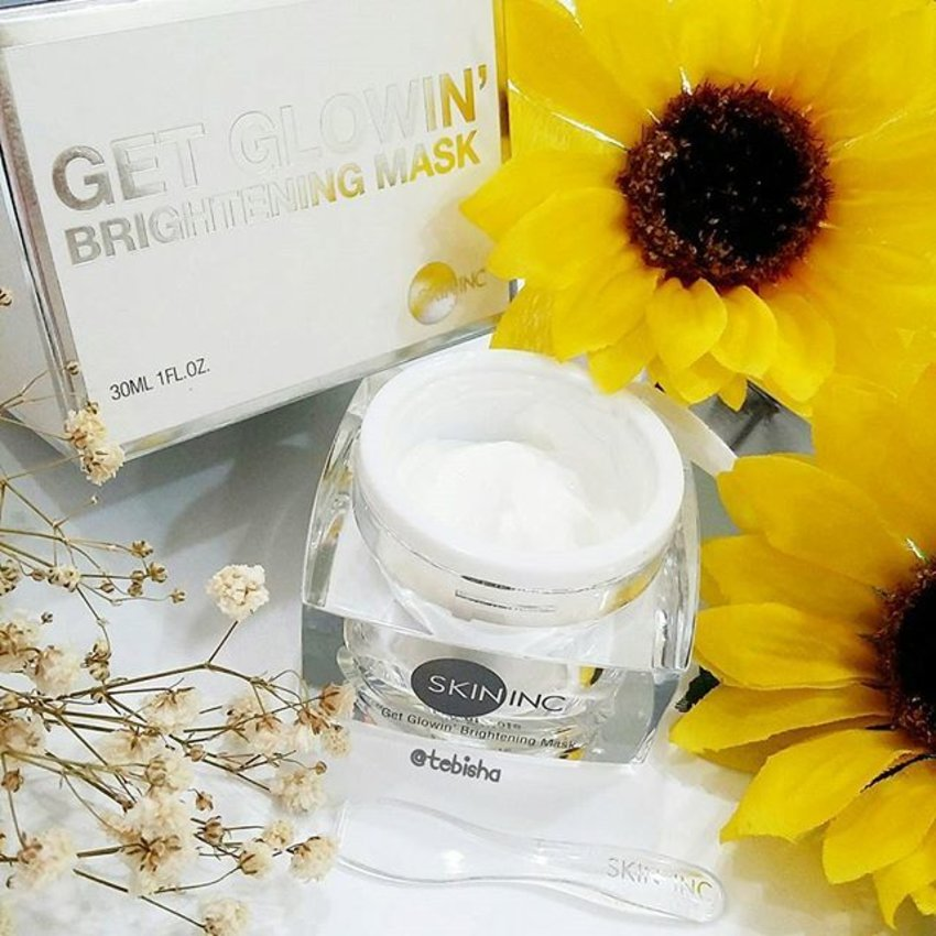 Featuring our very own Singapore skincare brand Skin Inc! Instant brightening and glow after using Get Glowin' Brightening Mask! 🌟 Reviews now on my blog: www.tebisha.com link on my bio ☝ #iloveskininc #skininc #skinincsg #GetGlow #ohmyglow #beauty #clozette