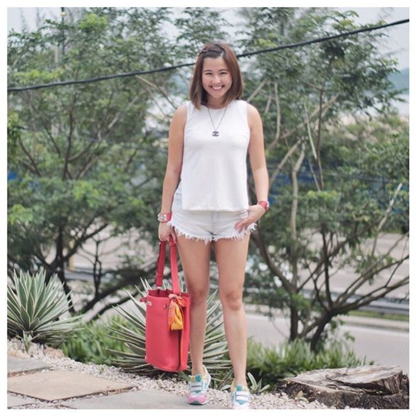always in red and white on the ninth of august, #happybirthdaysingapore #mysecondhometruly #ootd #ootdcampaign #lbootd #clozette #iFlookboard