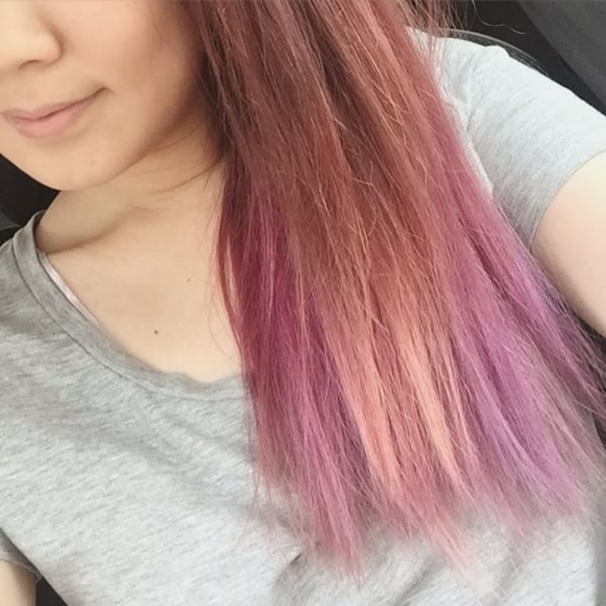 It's fading to pastel which I love 😍😍😍 #modernstylehair #beautyblog #beautychat #clozette #sgig #beautysg #singapore #hair #instadaily