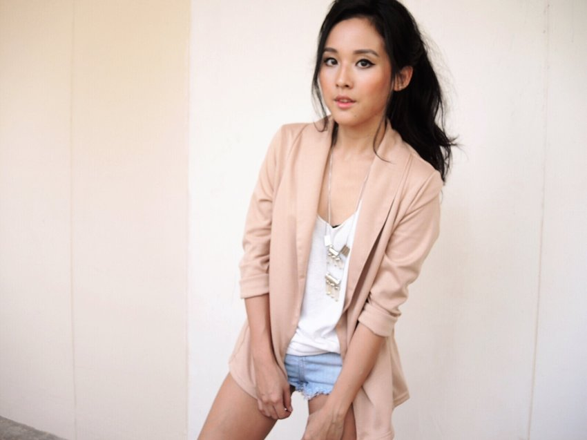 This blazer may not look like much in the hanger but it really is flattering when worn!