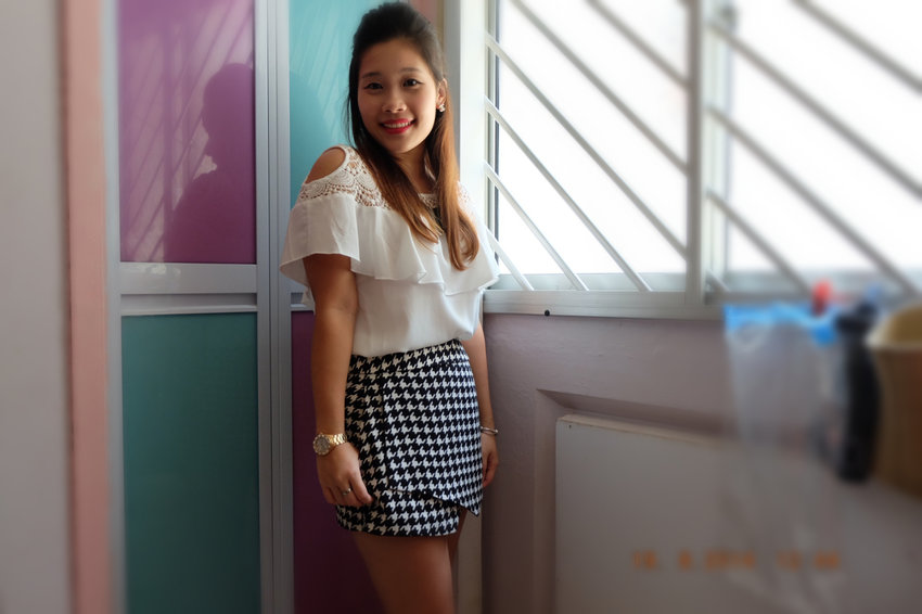 Today's ootd. Top from zalora, skorts from mdscollections. Love this match. :)