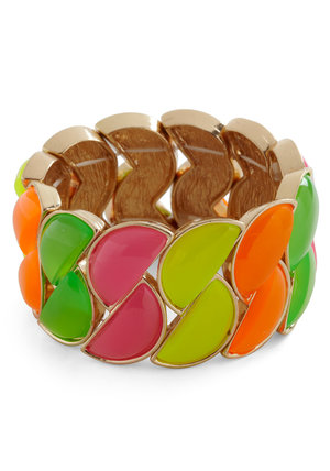 Gold & Fruit Wedges Cuff