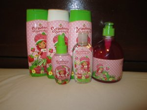 From Body lotions, Syampoo, Conditioner, Body Spray, Organic Aloe Vera Gel to Hand Wash. Strawberry Shortcake truly my choice! Superb amazing scent, my daughter feel pleasant.