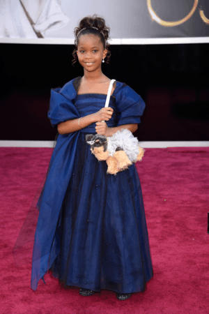 Quvenzhane Wallis in Armani Junior at Oscars 2013