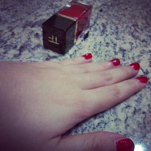 Red Tom Ford nails for CNY