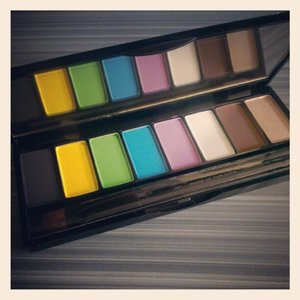 Using the new #mufe Technicolor palette today! #makeup