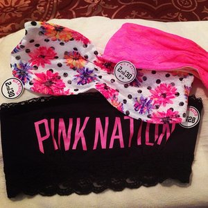 @vspink got my #Pink Nation bandeau yay!!! #spring #summer #cute #freebie