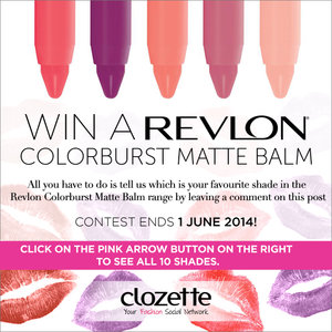 [Contest ended on 1 June 2014]  Can't decide which is your favourite shade? Click on the pink arrow button on the right to see all 10 shades up close!
