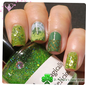 St. Patrick's Day inspired mani