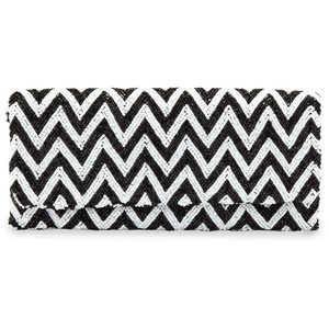 Black and white aztec bag