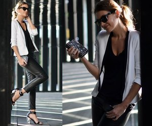 Want the white casual blazer + HEEEEEEELS!