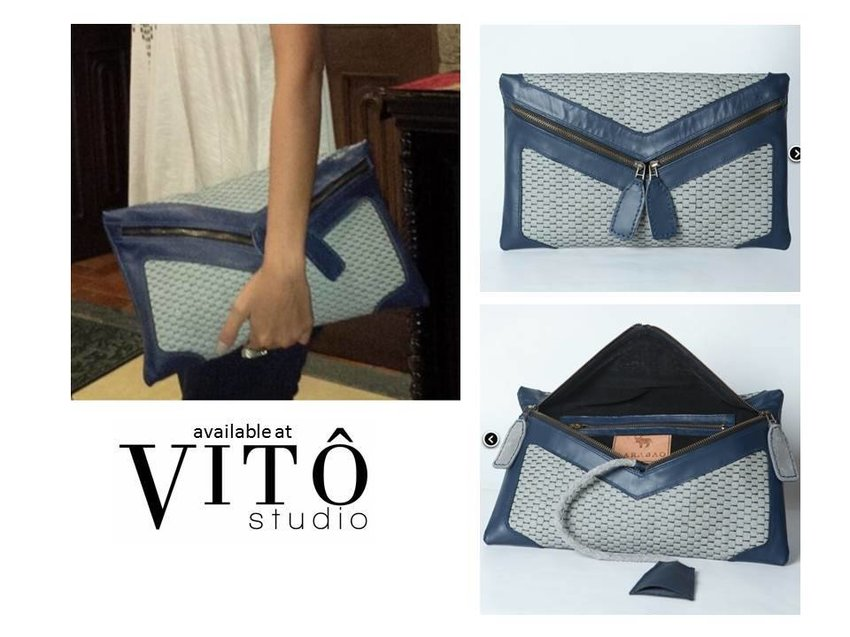 STYLE SPOTTING. Hating Gabi Envelop clutch by CARABAO. Available at http://vitostudio.com/
