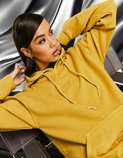 AS YOU hoodie in ochre-Yellow