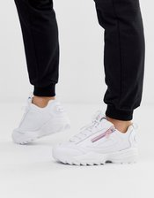Fila White Disruptor 3 ZIP Sneakers-Black